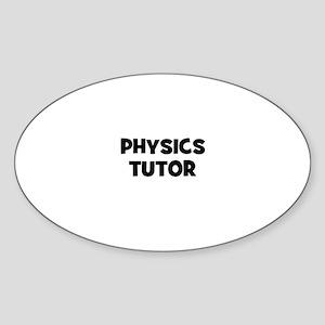 Physics Tutor Oval Sticker