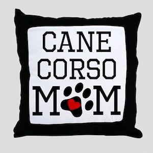 Cane Corso Mom Throw Pillow