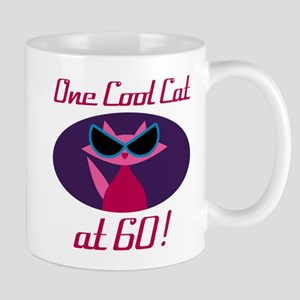Cool Cat 60th Birthday Mugs
