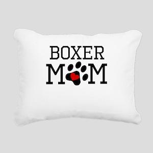 Boxer Mom Rectangular Canvas Pillow