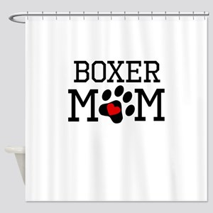 Boxer Mom Shower Curtain