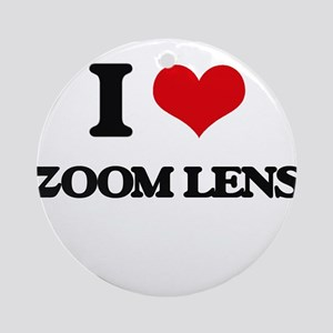I love Zoom Lens Ornament (Round)