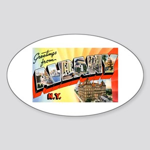 Albany New York Greetings Oval Sticker