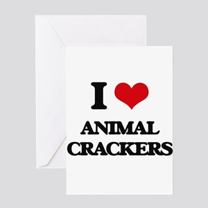 animal crackers Greeting Cards
