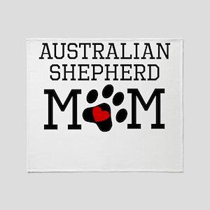 Australian Shepherd Mom Throw Blanket