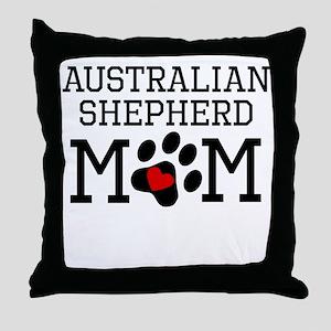 Australian Shepherd Mom Throw Pillow