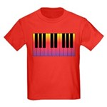 Fiery Piano Kids Dark T-Shirt