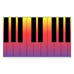 Fiery Piano Rectangle Sticker