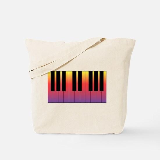 Fiery Piano Tote Bag