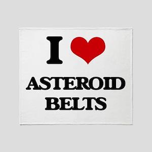 asteroid belts Throw Blanket