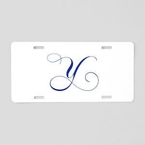 Y-cho blue2 Aluminum License Plate