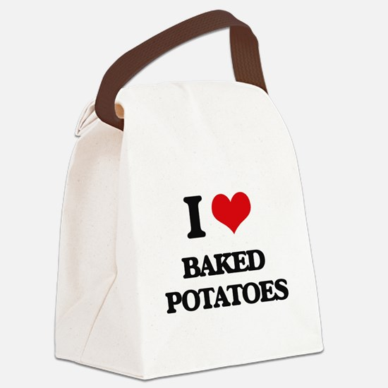 baked potatoes Canvas Lunch Bag