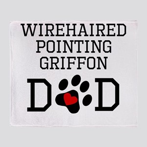 Wirehaired Pointing Griffon Dad Throw Blanket
