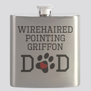 Wirehaired Pointing Griffon Dad Flask