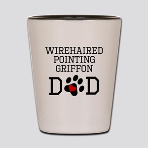 Wirehaired Pointing Griffon Dad Shot Glass
