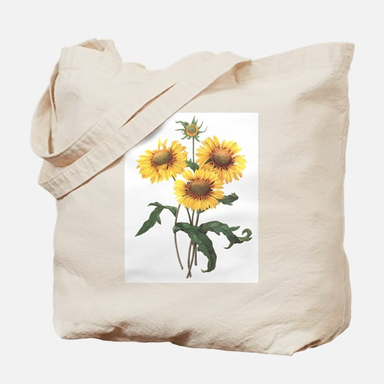 Redoute Sunflowers Tote Bag