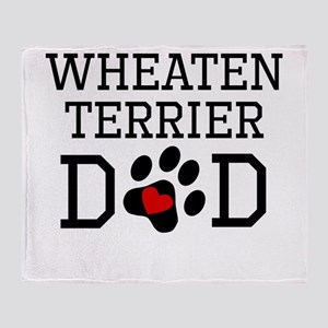 Wheaten Terrier Dad Throw Blanket