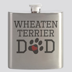 Wheaten Terrier Dad Flask
