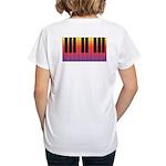 Fiery Piano Women's V-Neck T-Shirt