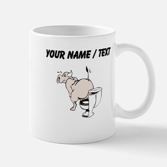 Custom Bull On Toilet Mugs