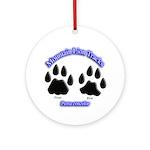 Mountain Lion Tracks Ornament (Round)