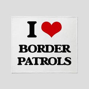 border patrols Throw Blanket