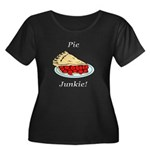 Pie Junk Women's Plus Size Scoop Neck Dark T-Shirt