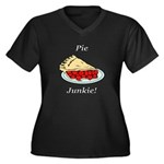 Pie Junkie Women's Plus Size V-Neck Dark T-Shirt