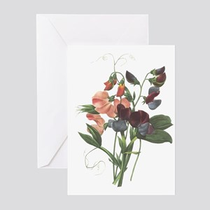 Redoute Sweetpeas Greeting Cards (6)