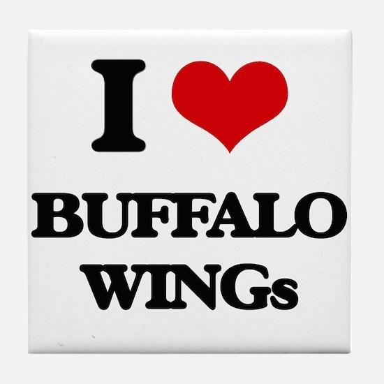 buffalo wings Tile Coaster
