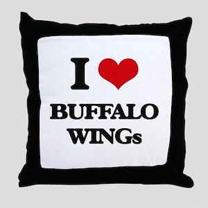 buffalo wings Throw Pillow