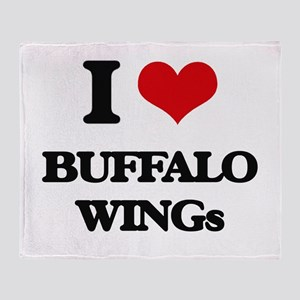 buffalo wings Throw Blanket