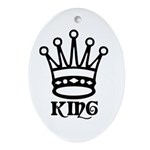 Chess King Oval Ornament