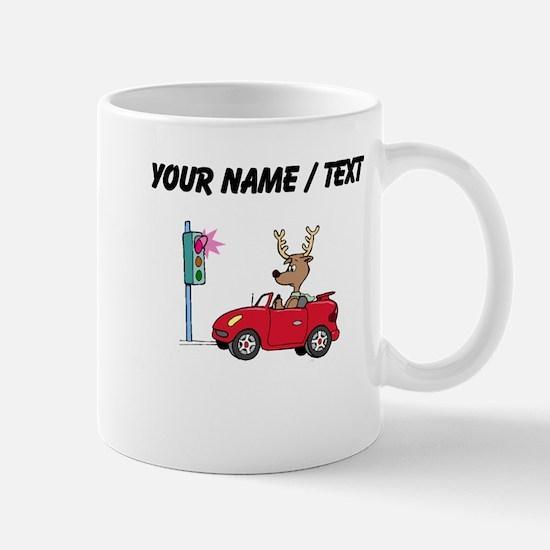 Custom Deer At Red Light Mugs