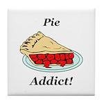 Pie Addict Tile Coaster
