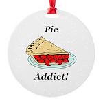 Pie Addict Round Ornament