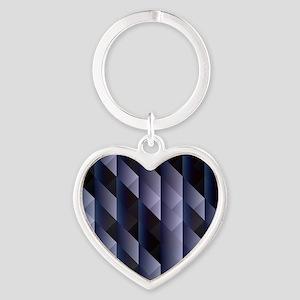 Geometric blue gray Keychains