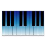 Daybreak Piano Rectangle Sticker
