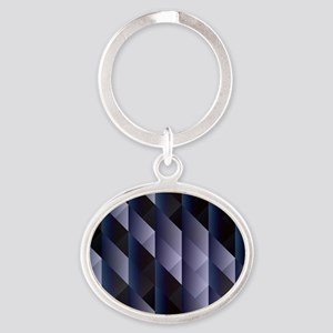Geometric blue gray Keychains
