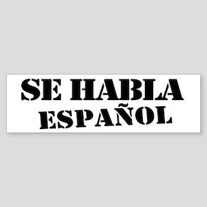 Se habla español Sticker (Bumper)