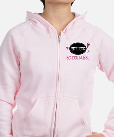 Retired School Nurse Zip Hoodie