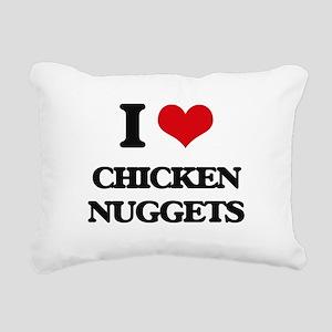 chicken nuggets Rectangular Canvas Pillow