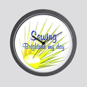 Sewing Brightens Wall Clock