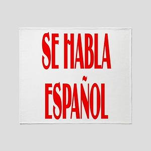Se habla espanol Throw Blanket