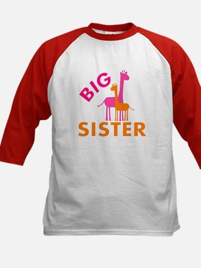 Big Sister Giraffes Baseball Jersey