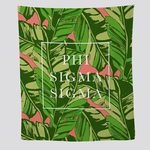 Phi Sigma Banana Leaves Wall Tapestry