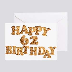 Funny 62nd birthday greeting cards cafepress 62nd birthday card for a cookie lover greeting car m4hsunfo