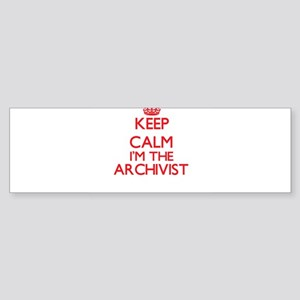 Keep calm I'm the Archivist Bumper Sticker