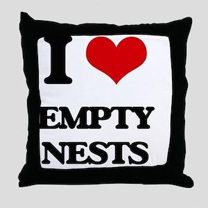 empty nests Throw Pillow