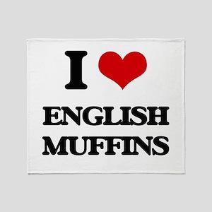english muffins Throw Blanket
